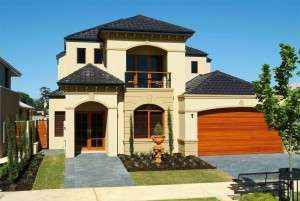 Front image of house displaying Aerostone products.