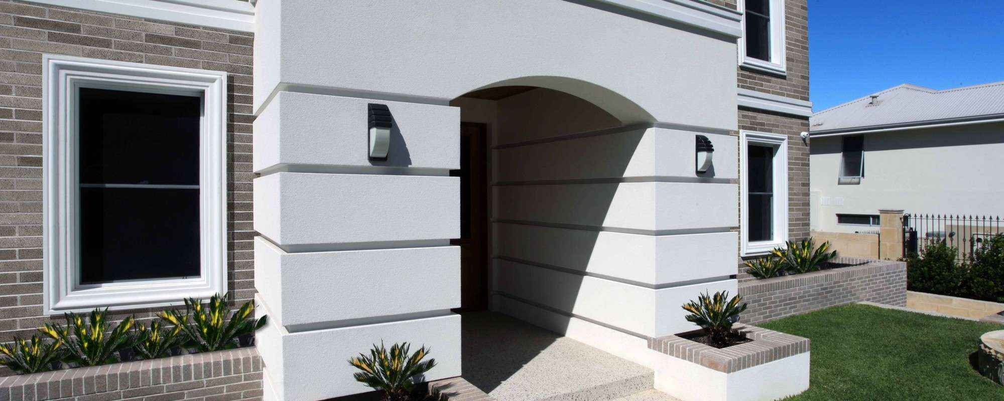 Aerostone mouldings used to improve the look of house front door.
